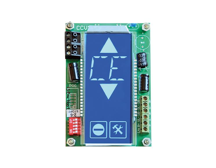 Dikey Mavi 16 Segment LCD