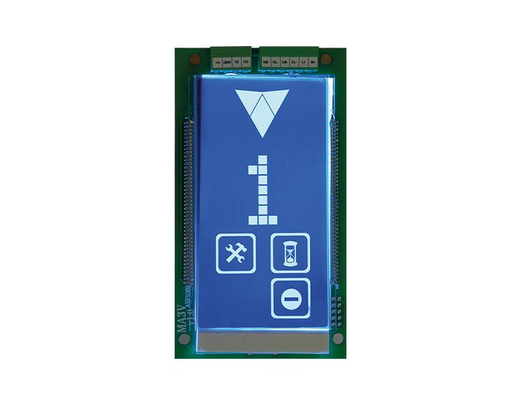 Dikey Mavi Dot Matrix LCD